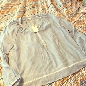 Lucky brand long sleeve thin blouse size L